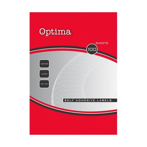 Etikett OPTIMA 32098 105x37mm 1600 címke/doboz 100 ív/doboz