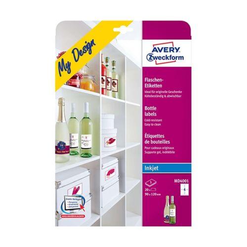 Etikett AVERY MD4001 borcimke 20 címke/doboz 5 ív/doboz