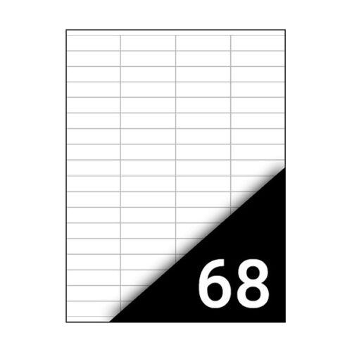 Etikett FORTUNA 48,5x16,9mm univerzális 6800 címke/doboz 100 ív/doboz