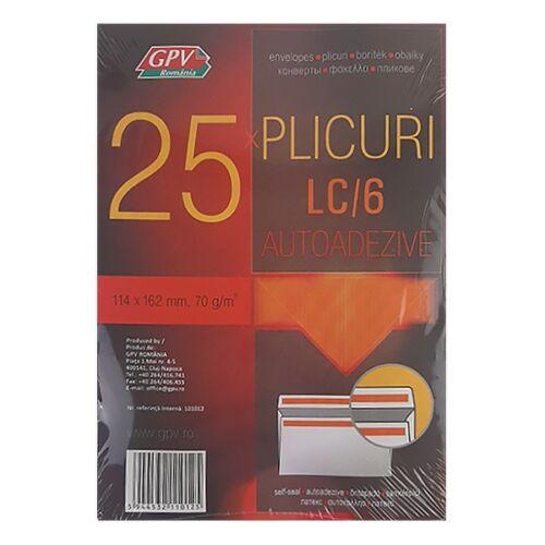 Boríték GPV LC/6 szilikonos bélésnyomott 114x162mm 25 db/csomag